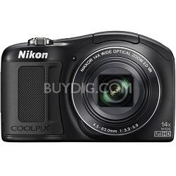 COOLPIX L620 18.1 MP CMOS 14x Zoom 1080p HD Digital Camera - Black