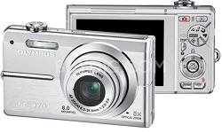 FE-370 8MP Digital Camera with Smile Shot (Silver)