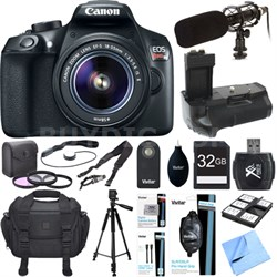 EOS Rebel T6 Digital SLR Camera with EF-S 18-55mm IS II Lens Kit Deluxe Bundle