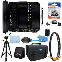 17-50mm f/2.8 EX DC OS HSM FLD Standard Zoom Canon EOS DSLR Lens 9pc Kit