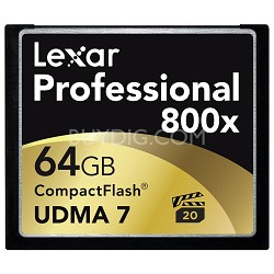 64 GB Professional 800x Compact Flash Memory Card (LCF64GCTBNA800)