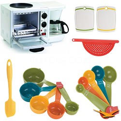 Elite Cuisine 3 in 1 Breakfast Station Deluxe Bundle