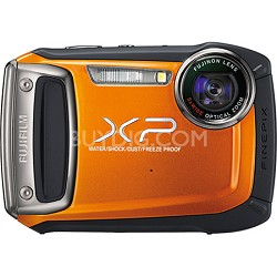 Finepix XP100 14MP Water/Shock/Freeze/Dust-Proof Digital Camera (Orange)