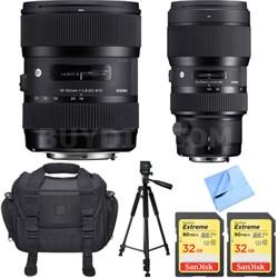 AF 18-35mm f/1.8 DC HSM Lens + 50-100mm f/1.8 DC HSM Lens for Canon Mount Bundle