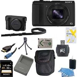 Cyber-shot DSC-HX50V WiFi Digital Camera 32 GB and Battery Bundle