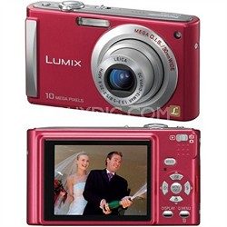 DMC-FS5 (Red) 10 MP Digital Camera w/ 2.5-inch LCD & 4x Optical Zoom - OPEN BOX