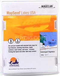 MapSend Lakes USA - West Software (SD card)