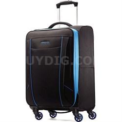 "Skylite 20"" Black / Blue Spinner Luggage"