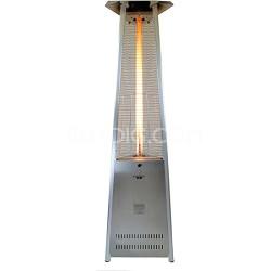 56,000 BTU Liquid Propane Gas Italia Lava Lite Portable Outdoor Heater - Steel