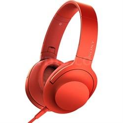 MDR100AAP h.Ear on Premium Hi-Res On-Ear Stereo Headphones - Cinnabar Red
