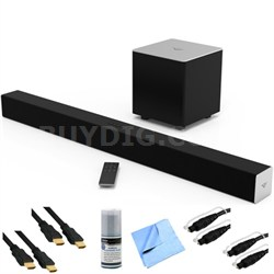 SB3821-C6 - 2.1ch Bluetooth Sound Bar System w/ Wireless Sub Plus Hook-Up Bundle