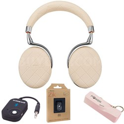 Zik 3 Wireless Noise Cancelling Bluetooth Headphones Over-stitched Mobile Bundle