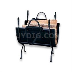 "UF 18"" Log Holder Wrought Iron"