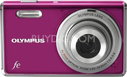FE-4000 12MP Digital Camera w/ 4x Wide Angle Opt Zoom, 2.7 inch LCD (Magenta)