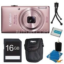 Powershot ELPH 115 IS Pink Digital Camera 16GB Bundle