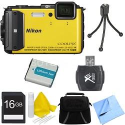 COOLPIX AW130 Waterproof Shockproof Freezeproof Digital Camera 16GB Bundle YLW