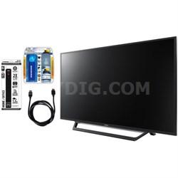 KDL-55W650D 55-Inch Full HD 1080p TV with Built-in Wi-Fi & Accessory Bundle