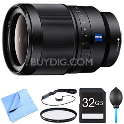 SEL35F14Z - Distagon T FE 35mm F1.4 ZA Full-frame E-mount Prime Lens Bundle