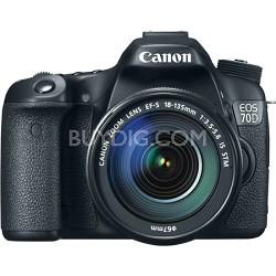 EOS 70D 20.2 MP CMOS Digital SLR Camera and EF-S 18-135mm F3.5-5.6 IS STM Kit