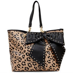 Bow Lette Tote - Leopard