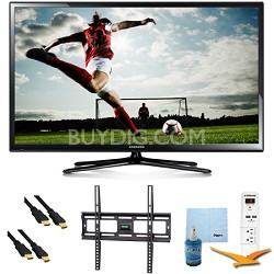 64-Inch Full HD 1080p Plasma HDTV 600Hz Plus Mount & Hook-Up Bundle - PN64H5000