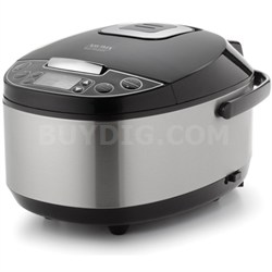 Professional 12-Cup (Cooked) Digital Rice Cooker, Food Steamer and Slow Cooker