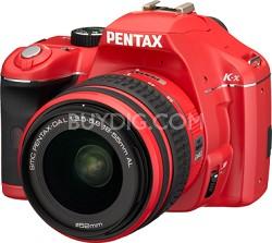 K-x Digital SLR Lens Kit w/ DA L 18-55mm Lens (Red)