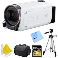 VIXIA HF R700 Full HD Black Camcorder Deluxe Bundle - White