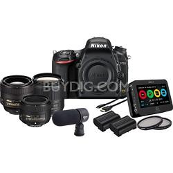 D750 24.3MP 1080p FX DSLR Camera Filmmaker's Kit