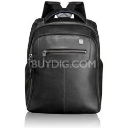 Steel City Slim Backpack Leather 054180D - Black
