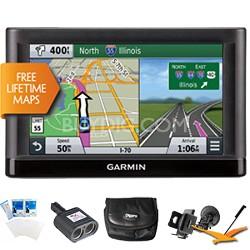 "nuvi 66LM GPS Nav w/ Lifetime Maps 6"" Display Plus Ultimate Bundle"