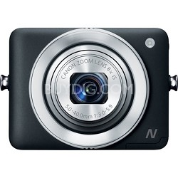 PowerShot N Black 12.1MP Digital Camera with WiFi and Mobile Device Connection