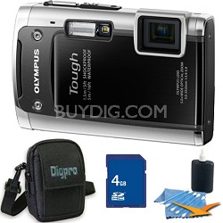 Tough TG-610 14MP Water/Shock/Freezeproof Digital Camera Black 4GB Kit
