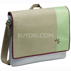 UCS-15 - 15.4-Inch Felt Messenger Bag with Laptop Storage (Gray/Purple)