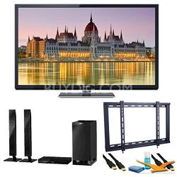 "65"" TC-P65ST50 VIERA 3D HD (1080p) Plasma TV with Built-in Wifi Speaker Bundle"