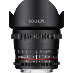 10mm T3.1 Cine Wide Angle Lens for Canon EF