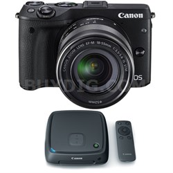 EOS M3 Digital Camera w/ EF-M 18-55mm Lens + 1TB CS100 Connect Station Hub