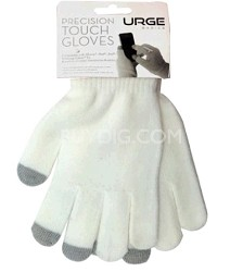 Precision Touchscreen Gloves for Tablets and Touchscreen Phones (White)