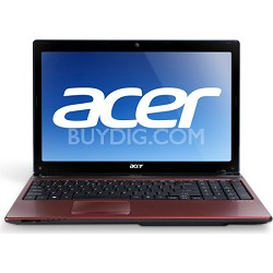 "Aspire AS5560-7602 15.6"" Notebook PC (Red) - AMD Quad-Core A6-3420M Accel Proc"