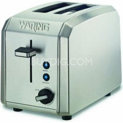WT200 Professional 2 Slice Toaster, Brushed Stainless Steel