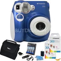 300 Instant Camera, Blue Value Bundle