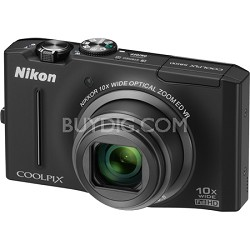 COOLPIX S8100 12.1 Megapixel Black Digital Camera w/ 1080p HD Video