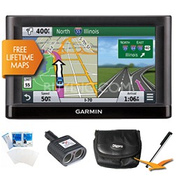 "nuvi 66LM GPS Nav with Lifetime Maps 6"" Display Essentials Bundle"