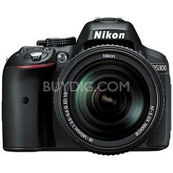 D5300 DX-Format Digital 24.2 MP SLR Camera with 18-140mm VR Kit Lens (Black)