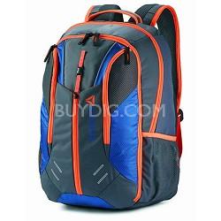 Axel Backpack BLUE/ORANGE/GREY