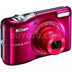 L32 20.1MP 720P HD Video w/ 5X Zoom Digital Camera (Red) Refurbished