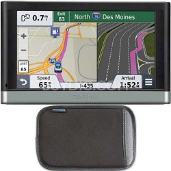 "nuvi 2597LMT 5"" Bluetooth GPS with Lifetime Maps and Traffic + Garmin Case"