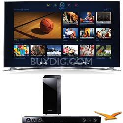 "UN60F8000 60"" 240hz 1080p 3D Wifi Smart Ultra Slim LED HDTV Sound Bar Bundle"