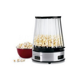 EasyPop Popcorn Maker - Stainless Steel and Black