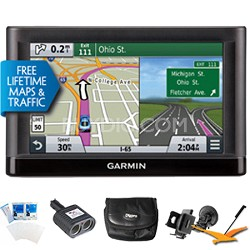 "Nuvi 65LMT Essential Series GPS Nav w/ Lifetime Maps 6"" Display Ultimate Bundle"